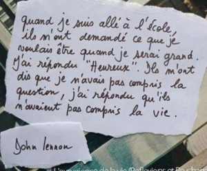 Citation de John Lennon citation-300x249